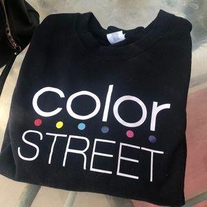 Color Street Crew Neck Sweatshirt